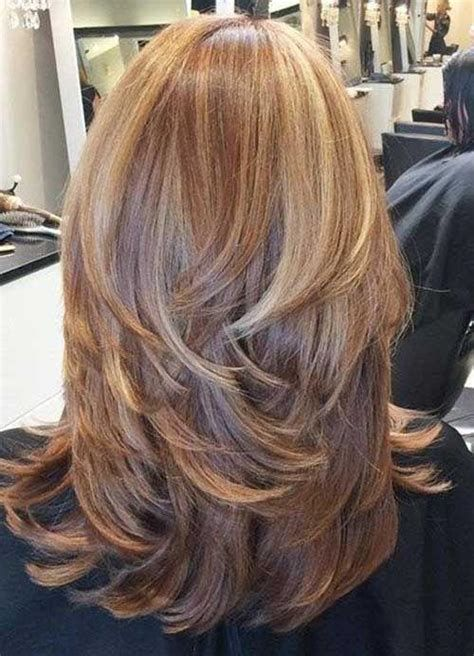 Back View Shoulder Length Layered Haircuts For Thick Hair 8