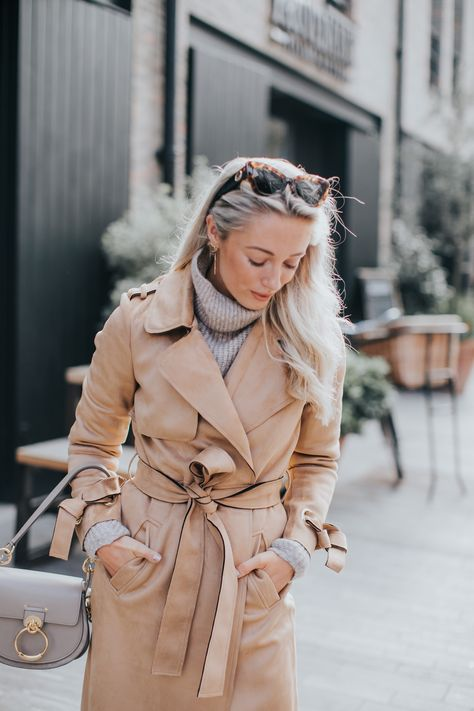 How To Look Chic When It's Cold! Suede Coat + Chunky Knit