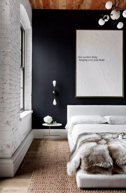Bedroom Decorating With Black Wallpaper 2 Modern Wall Decoration Ideas Industrial Style Bedroom Industrial Bedroom Design Contemporary Bedroom Design Black wallpaper ideas bedroom