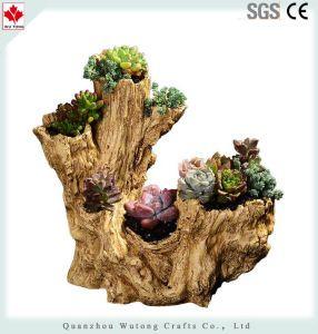 Wholesale Pure Hand Resin Tree Stump Succulent Planter