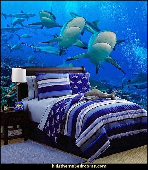 shark bedroom decor in 2020  shark bedroom shark decor