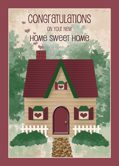 Home Sweet Home Congratulations On New Home Card Ad Sponsored Sweet Home Card Congratulation Congratulations New Home New Home Cards House Of Cards