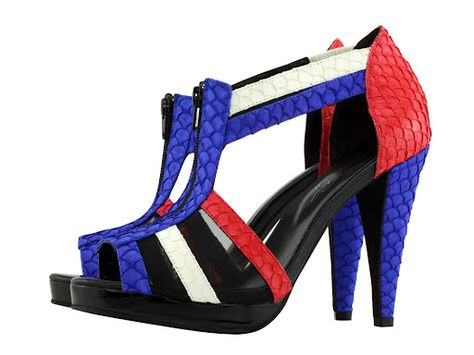 ce086553f2a Shoes of Prey - Design Your Own Shoes - Red White   Blue Fishskin ...