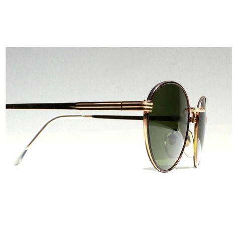 c6083401b2 Vintage Round P3 Sunglasses   Gatsby Glasses   John Lennon Sunglasses    Green Lenses   Gold Frames