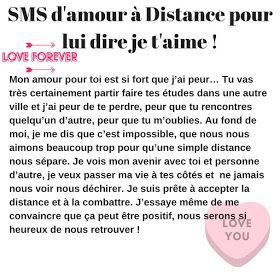 Messagetexte Pour Dire Je Taime à Distance 2019