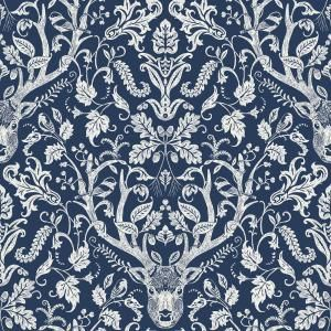 Nuwallpaper Shiplap Peel And Stick Vinyl Strippable Wallpaper Covers 30 75 Sq Ft Nu2187 The Home Depot Navy Wallpaper Peel And Stick Wallpaper Damask Wallpaper