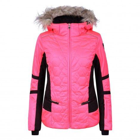Sportalm Holly winterjas dames neon pink Ski jas