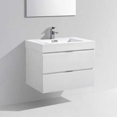 Tenafly 30 Wall Mounted Single Bathroom Vanity Set Single