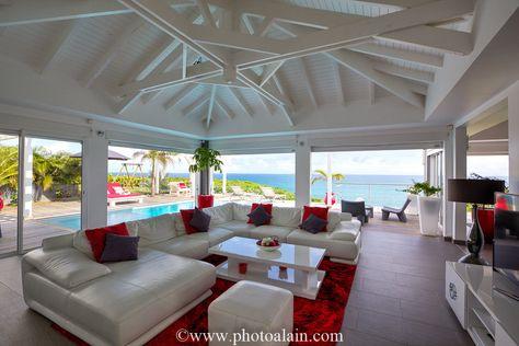 Location Villa De Luxe Vue Mer   Salon | Villa Paradise Guadeloupe |  Pinterest | Saint Anne, Villas And Paradise