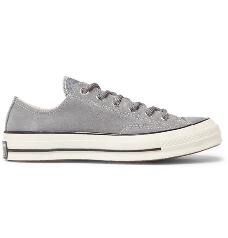 CONVERSE Chuck 70 OX Suede Sneakers. #converse #shoes