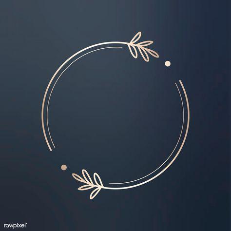 Download premium vector of Round floral design logo vector 679784