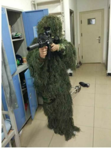 Hunting Camo Jungle Sniper Ghillie Suit  3D Leaf Camouflage Clothing  Tree Stand