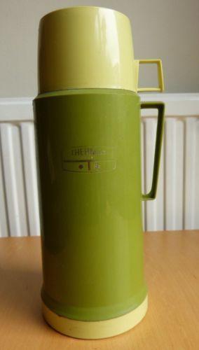 Vintage Large Thermos Flask Lime Green 1 Litre 36oz Picnic Vw Camper Camping Vw Camper Vintage Camper