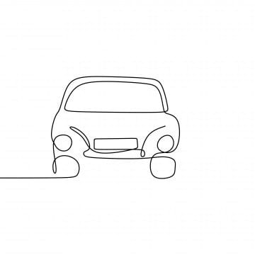 Continuous Line Drawing Of Classic Cars Design Vector Symbol Png And Vector With Transparent Background For Free Download Line Drawing Simple Car Drawing Continuous Line Drawing