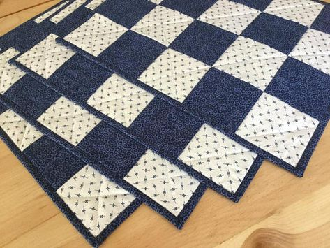 These Patchwork Quilted Placemats Are