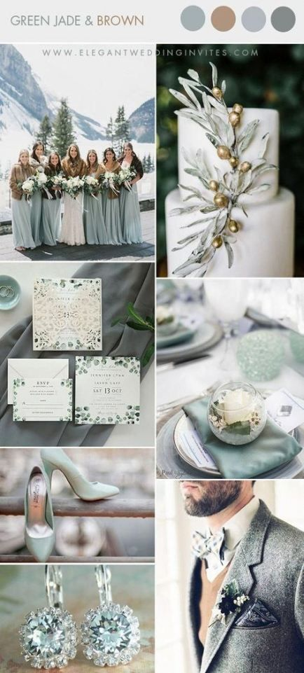 57 Ideas Wedding Winter Green Colour Palettes For 2019 Wedding