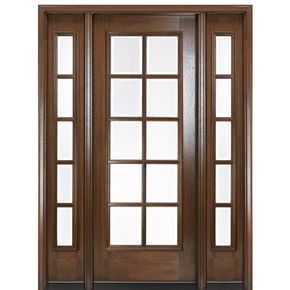 Mai Doors Df810l 1 2 Delta True Divided Lite 8 0 Modern Exterior Doors Mahogany Exterior Doors Interior Wood Shutters