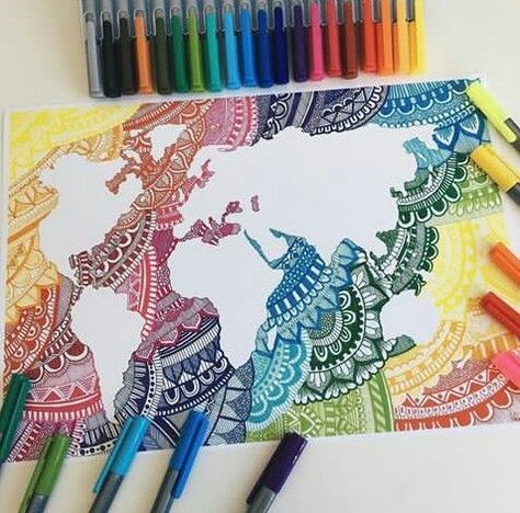 Doodle with the world #drawingsideasZentangle