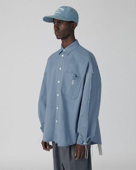Apoc string shirt Sky blue- Apoc string shirt Sky blue  ADER AderSpace # Shop #  -#Men'sShirtsfashion #Men'sShirtslinen #Men'sShirtsoversize #Men'sShirtssketch #Men'sShirtsyellow