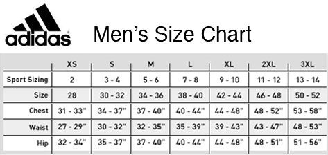 Adidas Size Chart Men In 2020 Size Chart Chart Adidas Men