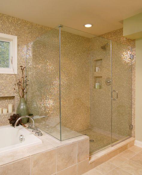 Gold Tile Bathroom Badezimmer Design Bad Inspiration