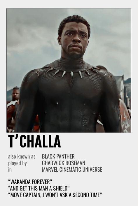 T'Challa Polaroid Poster