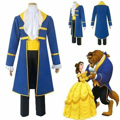 Mens Adult The Beast Disney Beauty And Beast Costume Prince Charming Outfits