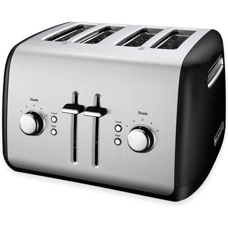 Kitchenaid Kmt4115er Toaster With Manual High Lift Lever Onyx Black Toaster Kitchen Aid Long Slot Toaster