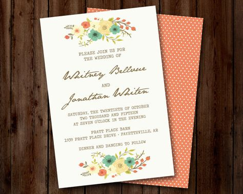 jane austen wedding or bridal shower invitation
