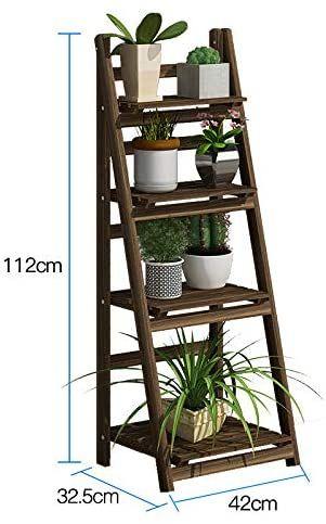 mbmf solid wood flower rack shelf