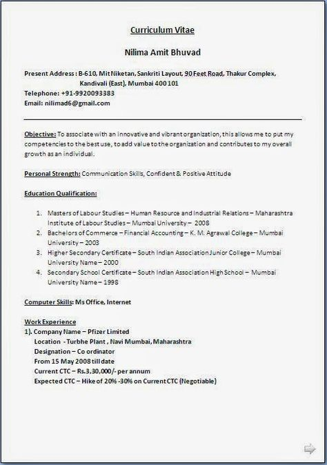 best resume writers Sample Template Example ofBeautiful Curriculum - human resources job description