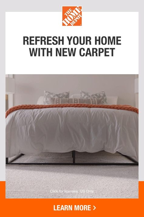 When you need new carpet, Home Services can get it done right. Choose your style by browsing free samples and make an appointment for a free quote and home measurement. Then, our local, certified professionals will install durable, family-friendly carpet in just one day. Plus, all labor is guaranteed. Tap to learn more about Home Services from The Home Depot.