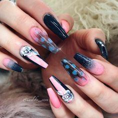 Do you see the cute little heart inside feathers?  #vietnails #vietsalon #feathernails #neonnails #nailstagram #nailart #nail_me_good_ #nailsby_evon #nailsoftheday #nailsmagazine #nailprodigy #nailpro #nailpromagazine #nailitmag #wakeupandmakeup #beauty #makeup #vegas #vegas_nay #coffinnails #notpolish #allpowder
