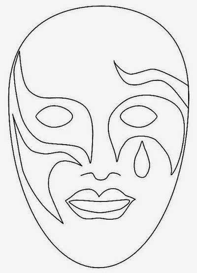 Desenhos De Mascaras De Carnaval Para Imprimir E Colorir Toda