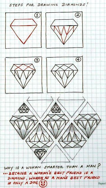 How to draw a diamond - Ignore the quote