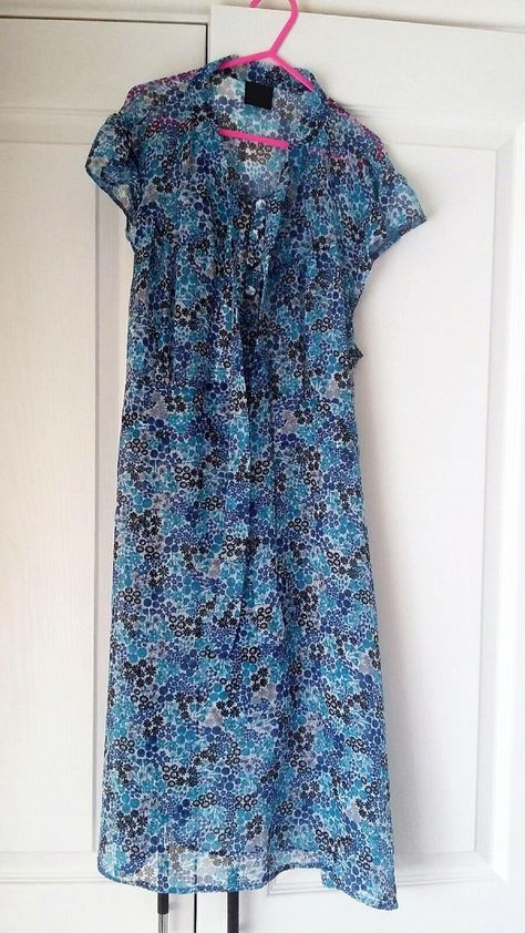 fb42cad31263 Pretty 1940s Style Vintage Tea Dress Blue Ditsy Floral Size 12 by  johnathancharles on Etsy