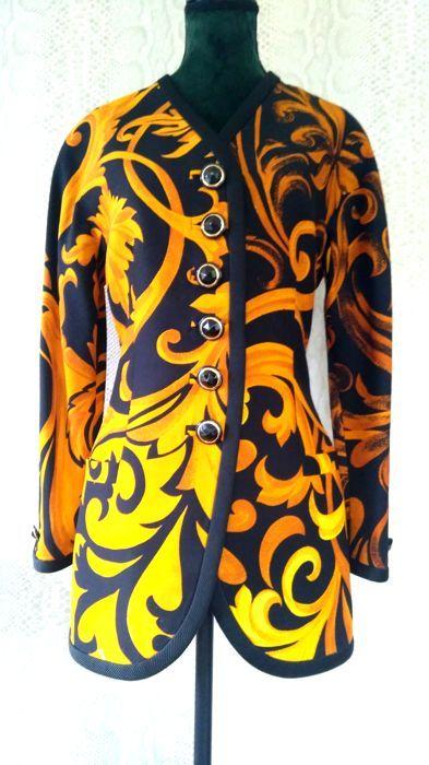 c9828d3da Gianni Versace Couture - Iconic Baroque Print Coat - Vintage in 2019 ...