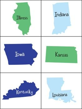 graphic relating to 50 States Flash Cards Printable identified as Pinterest Пинтерест