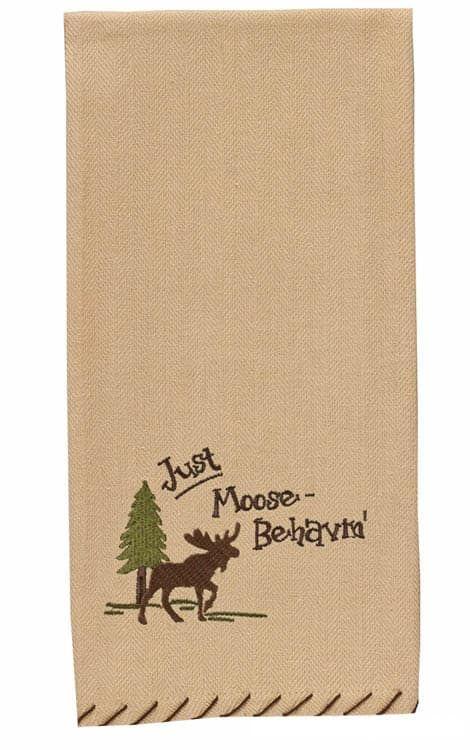 Just Moose Behavin Kitchen Hand Towel Dishtowel Kitchen Hand Towels Park Designs Dish Towels