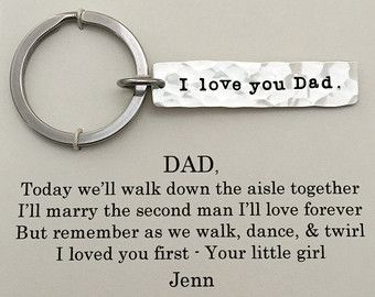 FATHER of the BRIDE Keychain Thank you for by onceuponasugartree