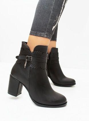 أسود بوت جزمة بوتات Black Boots Boots Ankle Boot