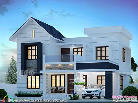 4 Bedroom 1750 Sq Ft Modern Home Design Kerala House Design Bedroom House Plans Duplex House Design