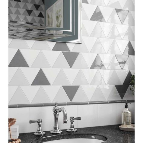 Carrelage Mural Faience Scale Triangolo 10 Couleurs Triangle 12