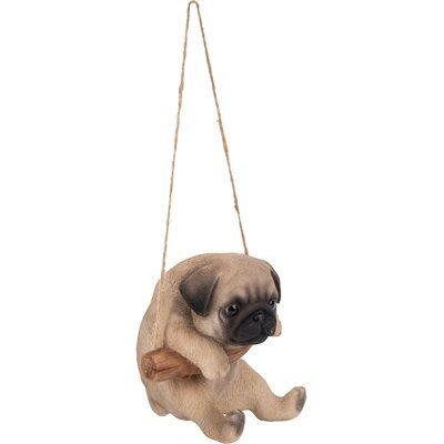 Hi Line Gift Ltd Hanging Pug Puppy Statue Wayfair Pug Puppy