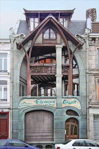 art nouveau, Maison d'Hector Guimard by Hector Guimard (1998-1900), Lille, France | Jean-Pierre Dalbéra | JV