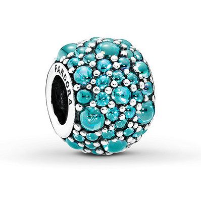 charm pandora bleu turquoise