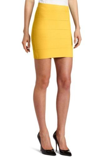 BCBGMAXAZRIA Womens Simone Bandage Skirt Bubble Fall Down