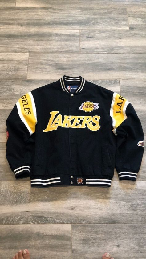 Cute Lazy Outfits, Swag Outfits For Girls, Trendy Outfits, Cool Outfits, Fashion Outfits, Lakers Jacket, Varsity Jacket Outfit, Nascar Jackets, Varsity Jackets