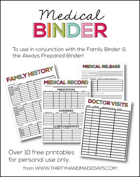 Medical Binder Fitness challenges, Workout plans and Binder - medical authorization release form