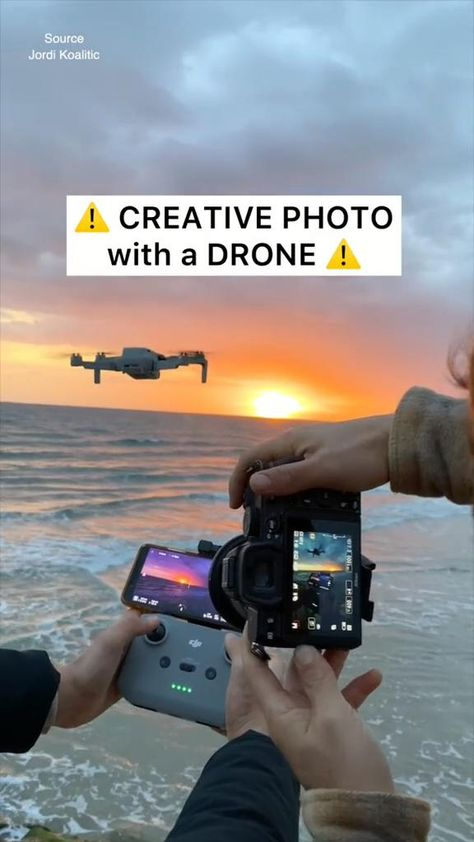 Creative Sunset Photo with a Drone